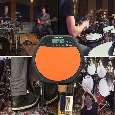 LCD Digital Electronic Drummer Training Practice Drum Pad Metronome Portable NEW