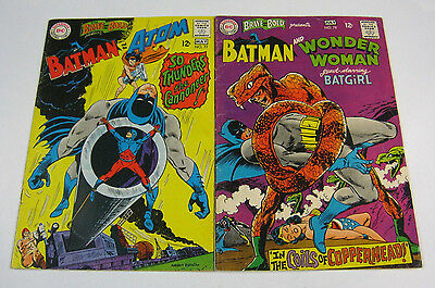 Brave & The Bold #77 & #78 Batman/Atom & Wonder Woman/Batgirl DC COMICS 1968