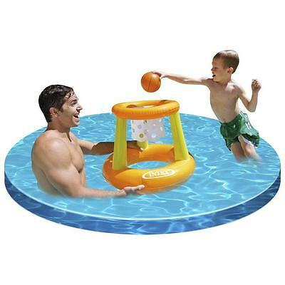 Intex Swimming/Paddling Pool Inflatable Basketball Hoop Game Children Garden Toy