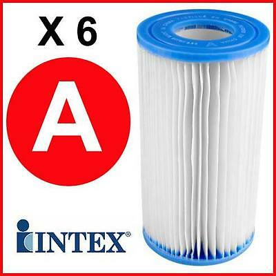 6 x Intex Type A Bestway III Paddling/Swimming Pool Filter Cleaning Cartridge
