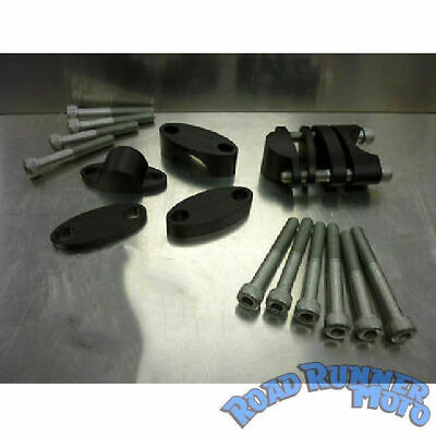 """CPR universal handlebar risers (15mm - 35mm) clamps for taper 1-1/8"""" bars HBCK9"""
