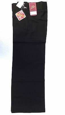 Vintage 1970s boys flared trousers school uniform John Morgan UNUSED black 27 28
