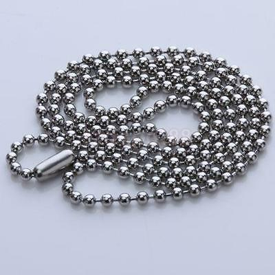 316L Stainless Steel 2mm Ball Beads Necklace Chain DIY Jewelry Craft Silver