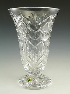 WATERFORD Crystal - Rare Footed Vase - 10""