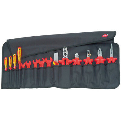 Knipex 98 99 13 1,000V Steel Insulated Wrench Screwdriver Pliers Bag Set - 15pc