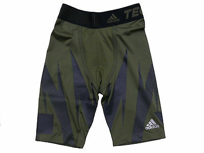 adidas Performance Compression Shorts Tight Techfit - Green Size S