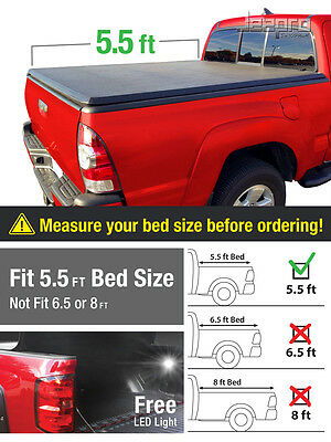 Premium Trifold Tonneau Tonno Cover For 2015-2016 F150 Short 5.5' Bed
