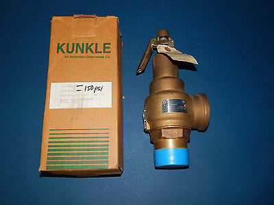 "Kunkle 6010HH Safety Relief Valve Size 2 Set 150PSI CAP 6596 LB/HR 2"" NPT"