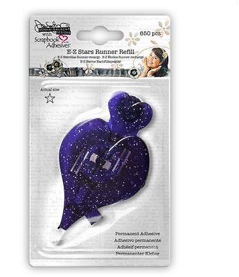 Scrapbook Adhesives E-Z RUNNER REFILL ~ STARS ~ PERMANENT  ~650 ct. ~03014