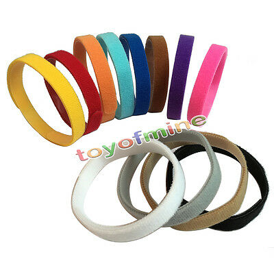 12 pc Newborn Puppy Reusable Adjustable Washable Collars Whelping Kit AS