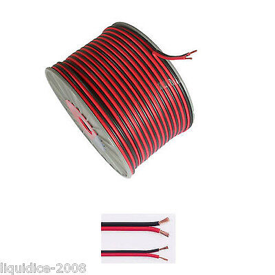 Twin Core 17A Amp 12V Black Red Dc Power Cable From 1 Metre - 50 Metres From 99P