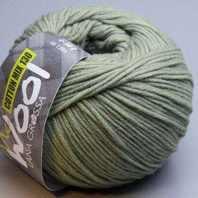 Lana Grossa McWool Cotton Mix 130 - 129 / 50g Wolle (5.90 EUR pro 100 g)