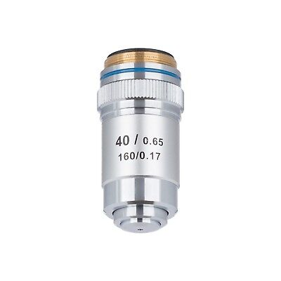 AmScope 40X (Spring) Achromatic Microscope Objective for Compound Microscopes
