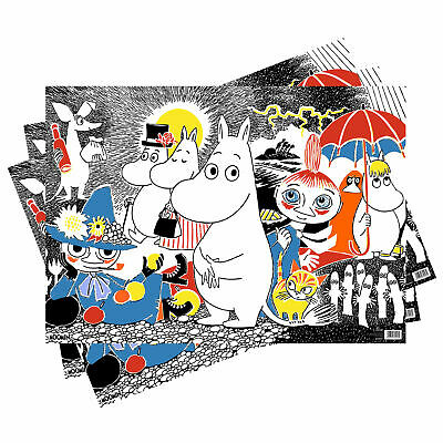 3 Sheets Moomin Scene Gift Wrap Wrapping Paper Birthday Beatrix Potter Jansson