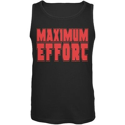 Maximum Effort Black Adult Tank Top