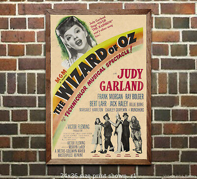 Wizard of Oz #3 - Vintage Film Movie Poster [6 sizes, matte+glossy avail]