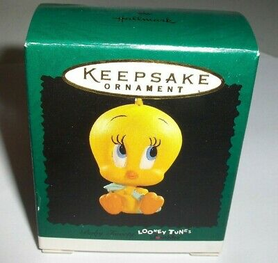 Baby Tweety`1996`Miniature-Warner Bros,Looney Tunes,Hallmark Ornament-: Sale