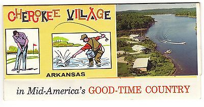Vintage 1950s CHEROKEE VILLAGE Arkansas Brochure