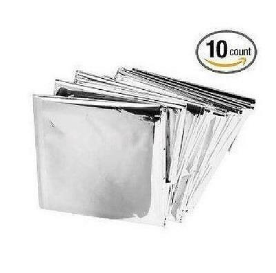 10 PACK • Emergency Blanket Survival Safety Insulating Mylar Thermal Heat N6Q7
