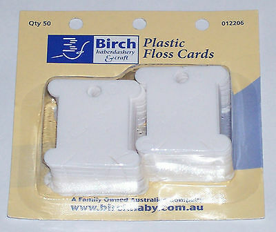 Birch Plastic Floss Bobbins -  50 pack