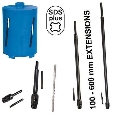 SDS PLUS FITTING DIAMOND CORE DRILL BITS FOR CONCRETE STONE. UPTO 600 mm LONG