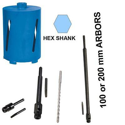 HEX SHANK FITTING DIAMOND CORE DRILL BITS FOR CONCRETE STONE. UPTO 600 mm LONG