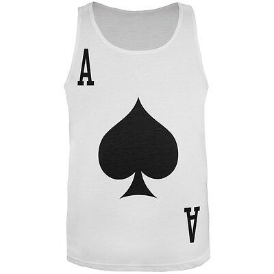 Halloween Ace of Spades Card Soldier Costume All Over Adult Tank Top