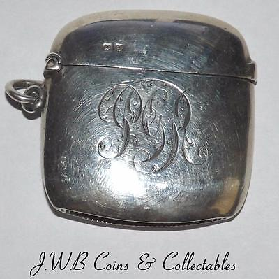 Antique Silver Vesta Case Hallmarked Chester 1904 William Neal