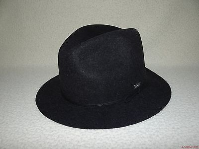 New Coal Mens The Drifter Fedora Trilby Wool Cap Hat Medium