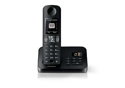 Philips D6051 Landline Cordless Home Phone with Answering Machine & Baby Monitor