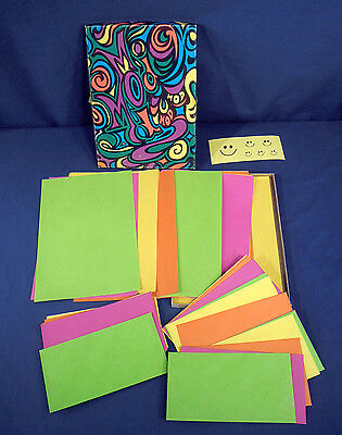 Vtg Mid Century Modern Mod Peter Max Psychedelics Stationary 1960s Groovy Colors
