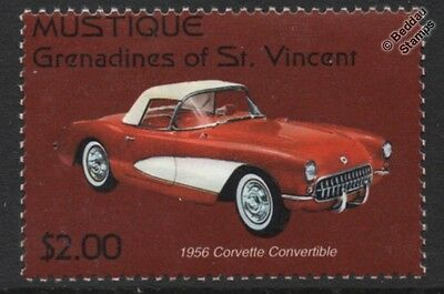 1956 Chevy / Chevrolet CORVETTE Roadster Convertible Car Stamp