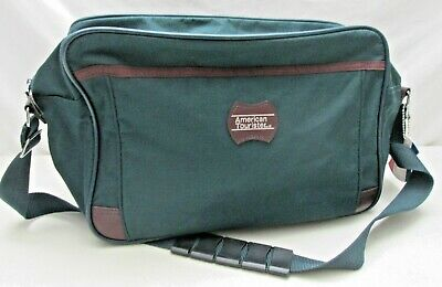 American Tourister Carry On Luggage Tote Bag Travel Shoulder Strap Name Hang Tag