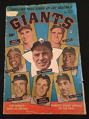THRILLING TRUE STORY OF THE BASEBALL GIANTS G/G- Condition