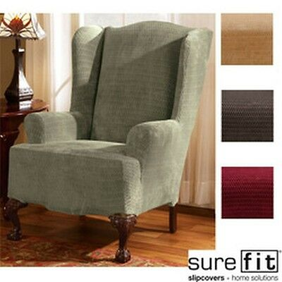 Sure Fit Royal Diamond Stretch Wing Chair Slipcover