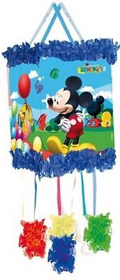 Disney Mickey Mouse Pull-String Pinata & Augenbinde Kinderparty Spiel 395-807