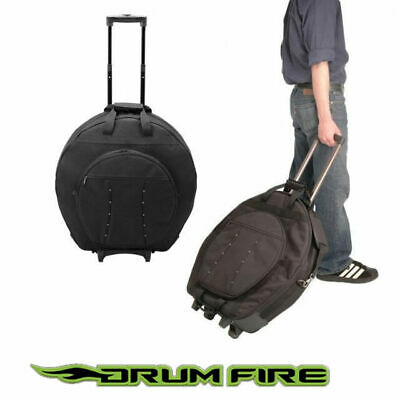 Drumfire CBT4200D Deluxe Cymbal Trolley Bag with Wheels