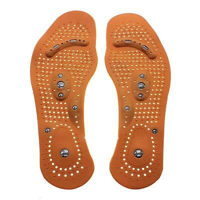 1 Pair Magnetic Therapy Magnet Health Care Foot Massage Insoles For Men Women