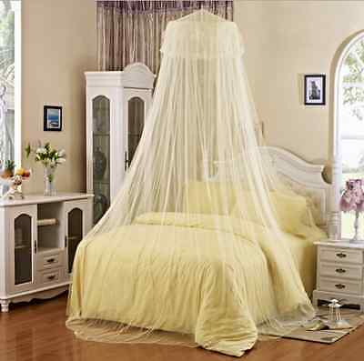 Mosquito Net Bed Canopy Netting Curtain Dome Fly Midges Insect Stopping YellowHT