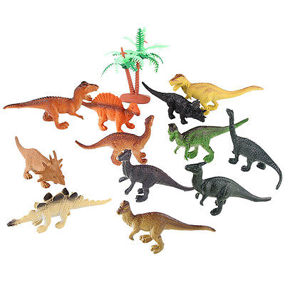 12pcs Assorted Dinosaur Models Playset Toy Animals Action Figures Set Kids Toys