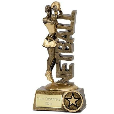 Netball Shooter Ball Trophy Player Trophies 2 Sizes Available Engraved Free