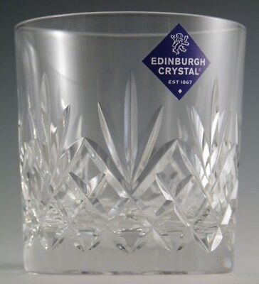 EDINBURGH Crystal - TAY Cut - OF Tumbler Glass / Glasses - 3 1/4""