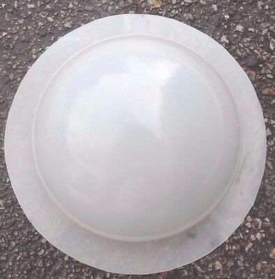 """Poly plastic mold half sphere 8"""" W concrete plaster resin mould unbreakable"""