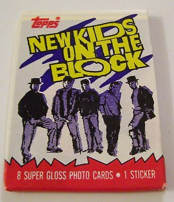 1 Sealed Package New Kids On The Block Trading Cards & 1 Sticker Topps 1989
