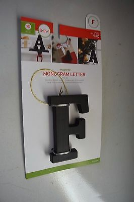 New Monogram F Stocking Accessory As Pin, Ornament Or F/stocking Holder Bronze