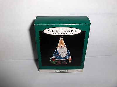 In The Woods`1993`Miniature-Elf With Tree In Woods,Hallmark Christmas Ornament
