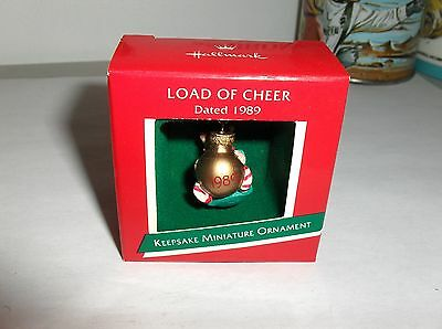 Load Of Cheer`1989`Miniature-Hallmark,Little Elf Hanging On Christmas Ornament