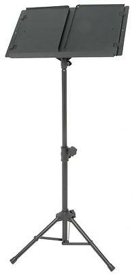 Chord 180.224 Heavy Duty Music Stand with Solid Metal Sheet Music Holder - Black