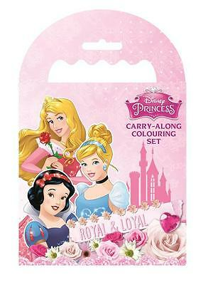 Disney Princess Mini Sketch Book Set Stickers Colouring Party Bag Fillers Gift