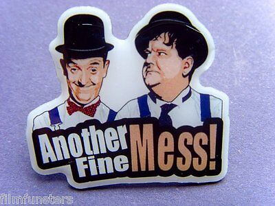 Laurel & and Hardy 'ANOTHER FINE MESS' PIN BADGE